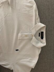 Genuine barely worn Ralph Lauren Polo Shirt - White/Large