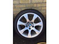 x4 bmw e92 genuine alloys wheels 185 spoke 17inch 6764623 & Tyres