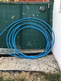 25mm MDPE blue water pipe