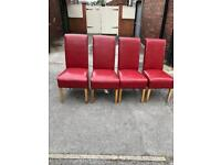 Red set if 4 chairs