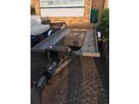 Four wheel galvanised car trailer