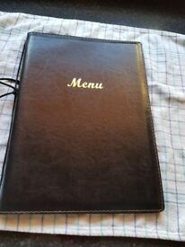 7 A4 leather look A4 menu covers with inserts for 4 pages