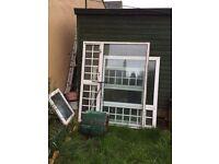 Aluminum double glazing windows different sizes