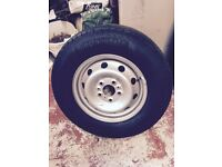 Spare wheel for 2014 Motorhome (fiat) heavy duty. Never used cost £ 435 new Will accept £ 150