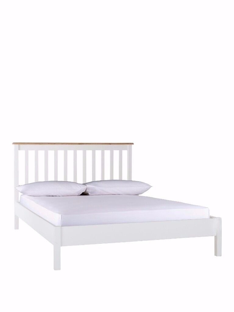 Thornton Small Double Low Foot End Bed Frame - White/Oak | in Armley, West  Yorkshire | Gumtree