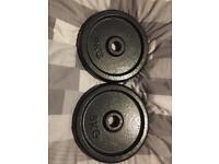 2x 5kg cast iron weights