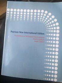 Foundations of behavioural science (9 edition)Pearson new international edition author: N.R Carlson
