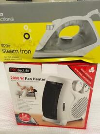 Fan heater and iron