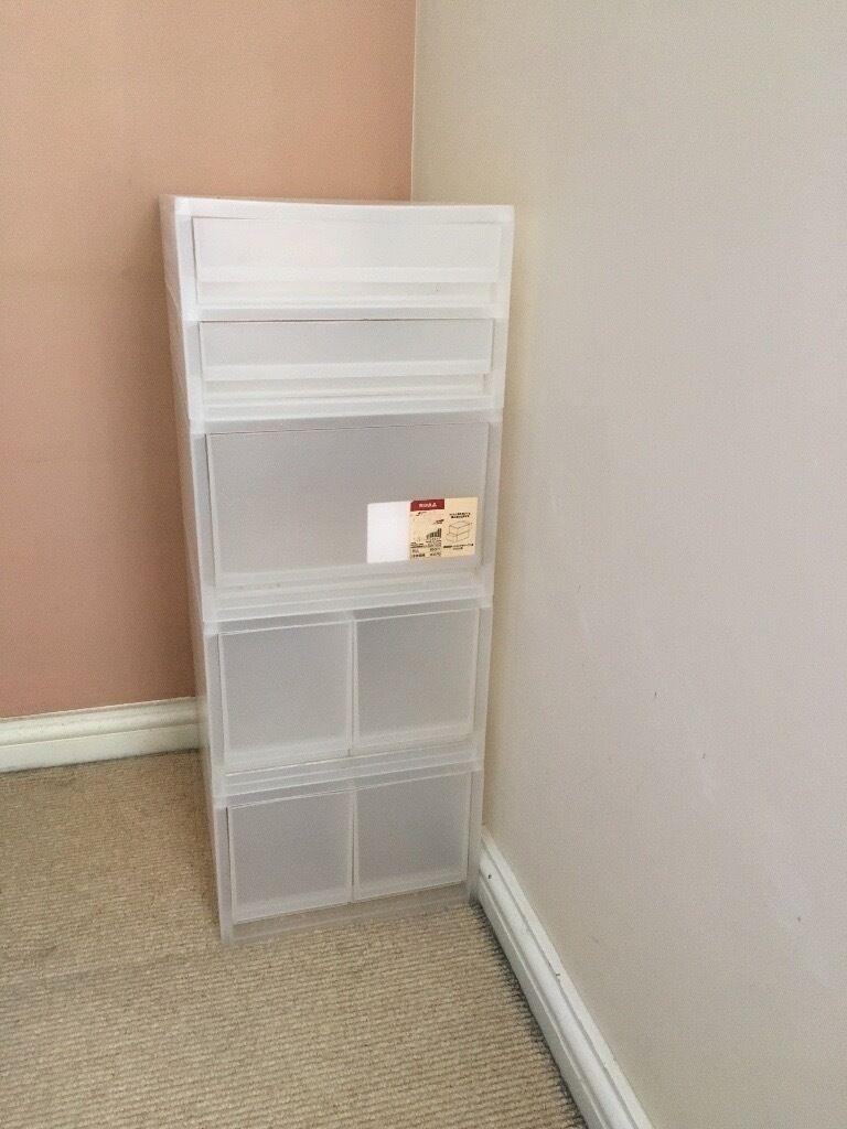 Muji 4 X Pp Storage Boxes Drawer Unit In Islington