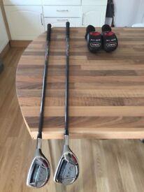 Two Adams A12OS Idea Hybid Golf Clubs