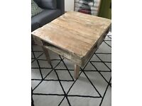 Vintage/Industrial Coffee Table (made out of wood pallet)