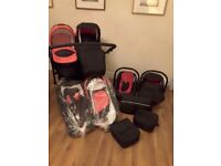 Double buggy, travel system £350 ono