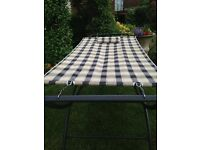 BLACK /CREAM/ WHITE CHECK GARDEN HAMMOCK