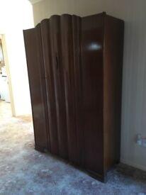 Lebus Furniture Vintage Large Wooden Wardrobe