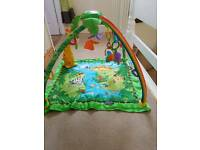FISHER PRICE RAIN FOREST Deluxe Baby Gym & Play Mat
