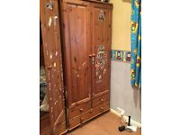 Pine Double wardrobe Only £30