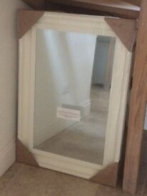 LINEA ~ Vintage Style Canterbury Cream/ Shabby Chic Painted Mirror (177x 86.5)