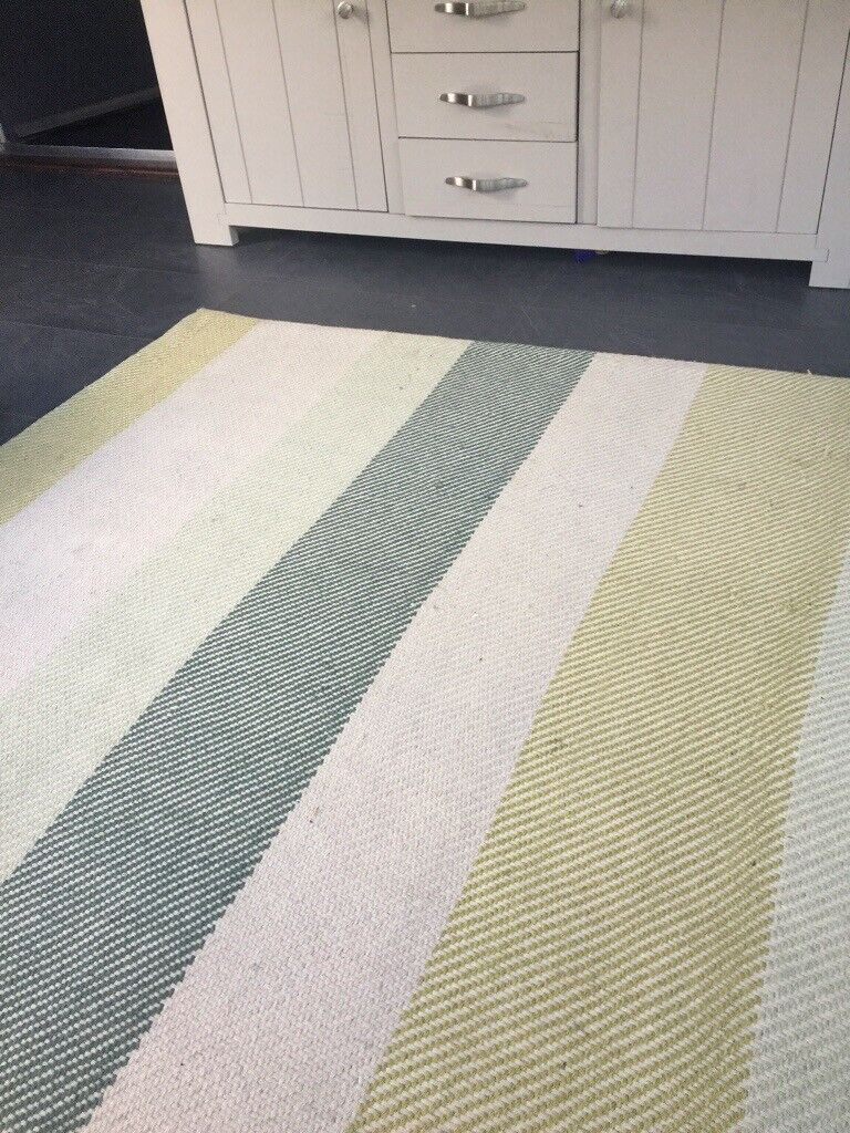 Large Next Rug 90inch X64inch Greens