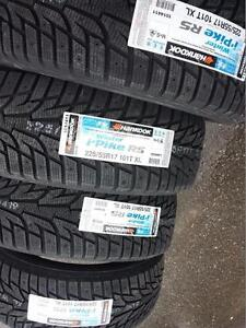 BRAND NEW WITH LABELS ULTRA HIGH PERFORMANCE HANKOOK 225 / 55 / 17 WINTER TIRE SET OF FOUR.