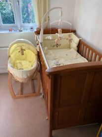 Mamas & Papas Cot, tall boy and baby changing unit £375ono