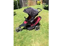 Phil and Teds Classic Explorer with double buggy adapter,raincover and baby cocoon £120