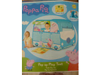 Peppa Pig Campervan Pop-Up Role Play Tent in Blue mix