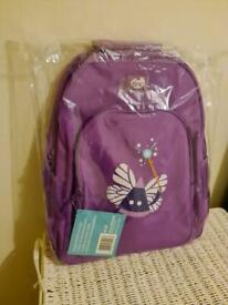 Brand new unused bright pink colour butterfly girls bag