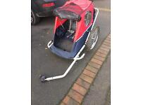 Double children's bike trailer