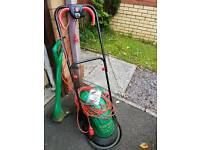Qualcast electric mower and grass trimmer