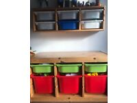 Ikea hanging and standing storage units
