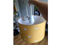 cute John Lewis adjustable lamp shade for pendant or standing with pendant cord