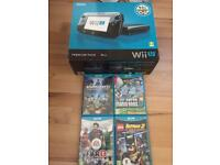 Nintendo WiiU - Black - Comes with 5 Games