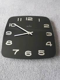 Black glass Acctim wall clock