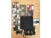 PS3 WITH GTA 5 MOD MENU AND GAMES BUNDLE, 2 CONTROLLERS