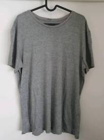 2x Armani T-Shirts - Mens Size Large - Grey & Navy