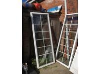 Framed Georgian glazed panels (windows)