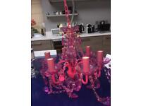 Lovely Pink Chandelier