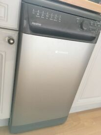 Hotpoint Aquarius slimline dishwasher graphite