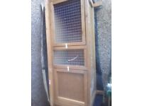 Large rabbit hutch with cover