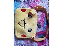 Pokemon Pikachu plush messenger bag