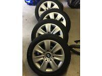 "BMW Original Steel Wheels (16""), BMW Wheel Trims, Goodyear Ultragrip Winter Tyres. 3 Series E90."