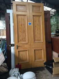 Large Pitch Pine Doors