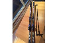 Volkl P10 RS Touring, Nordic Downhill Skis 190cm with Poles and Bindings