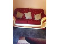 3 seater and 2 seater pulse chair also matching curtains same colour