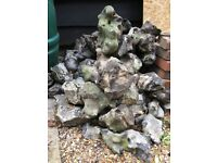 Large Pile of Flint Stones suitable for a Rockery or Edging - Free to Collector