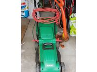 Qualcast Lawnmower (nearly new) and Strimmer -