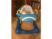 Blue Aeroplane Baby Walker