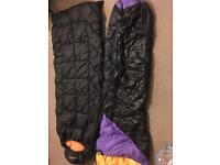 2 people tent with sleeping bags