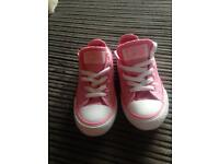 Sparked pink converse size 13