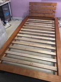 Great condition wooden single bed collection only matress NOT included